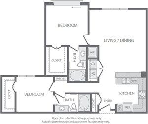 B4 Floorplan at Windsor South Lamar, Austin