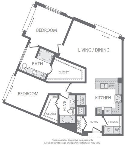 B7 Floorplan at Windsor South Lamar, Austin