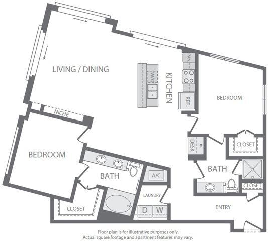 B9 Floorplan at Windsor South Lamar