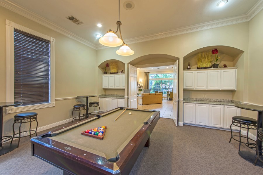 Image of the billiards table for our residents