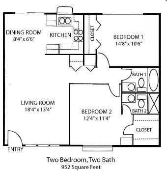 2-2B Floor Plan 2