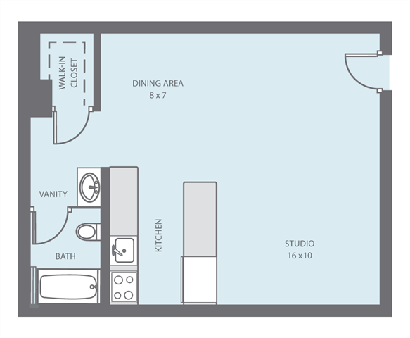 Studio Loft Floor Plan 1