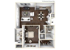 1 Bedroom Plan A