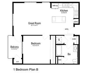 1 Bedroom Plan B