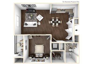 1 Bedroom Plan C