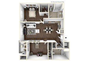 2 Bedroom Plan A