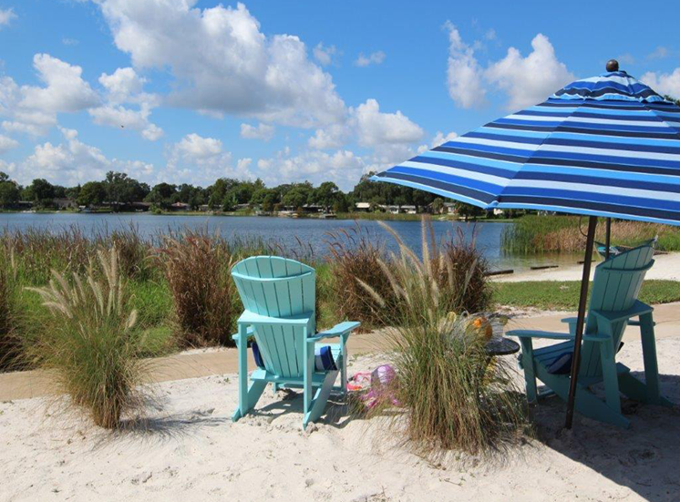 Beachside Relaxing Area at Enclave at Lake Underhill, Orlando, Florida
