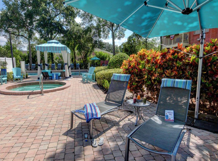 Hot Tub And Relaxing Area at Enclave at Lake Underhill, Orlando, FL
