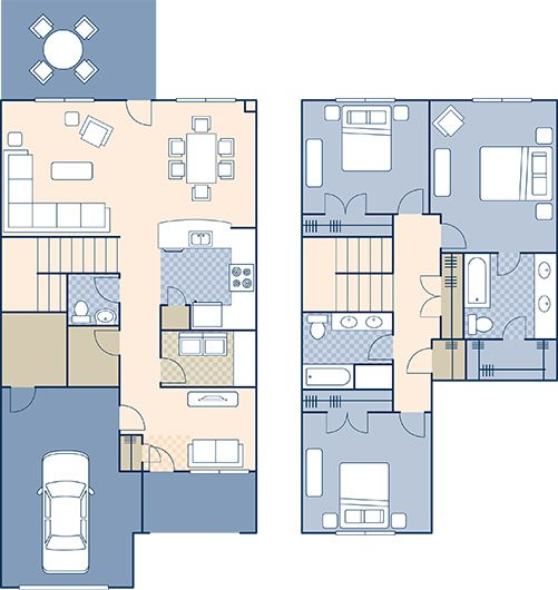 Marseilles Village 1460 Floor Plan 14