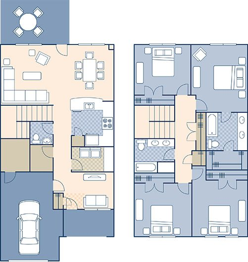 Marseilles Village 1623 Floor Plan 15