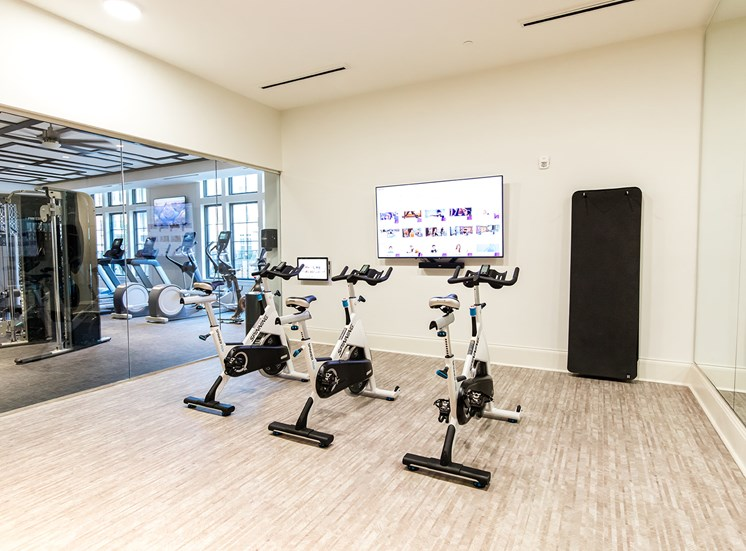 Fitness-on-Demand/Yoga/Cross Fit room with spin bikes