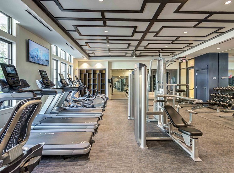 State of the art fitness center with 24 hour access