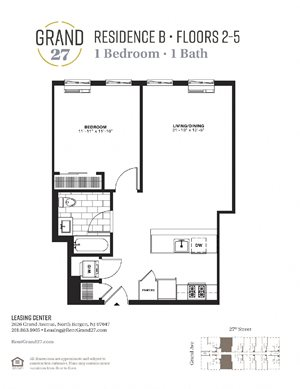 1 Bedroom 1 Bathroom B