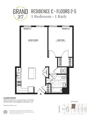 1 Bedroom 1 Bathroom C
