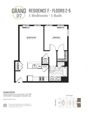 1 Bedroom 1 Bathroom F