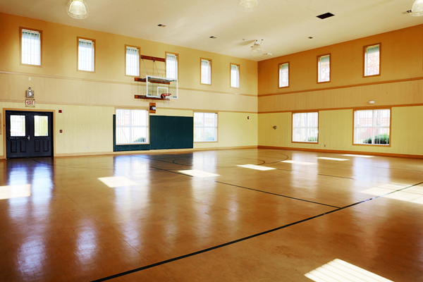 Full Size Indoor Basketball Court at Main Street Village Apartments, Indiana, Granger