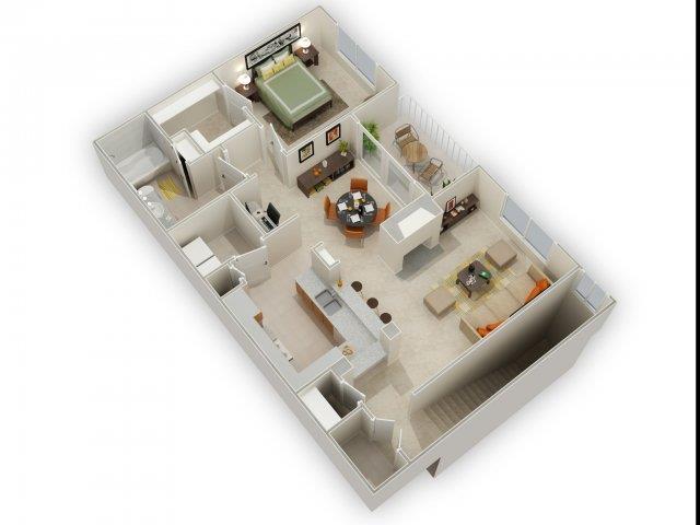 Lockridge Floorplan at Main Street Village Apartments