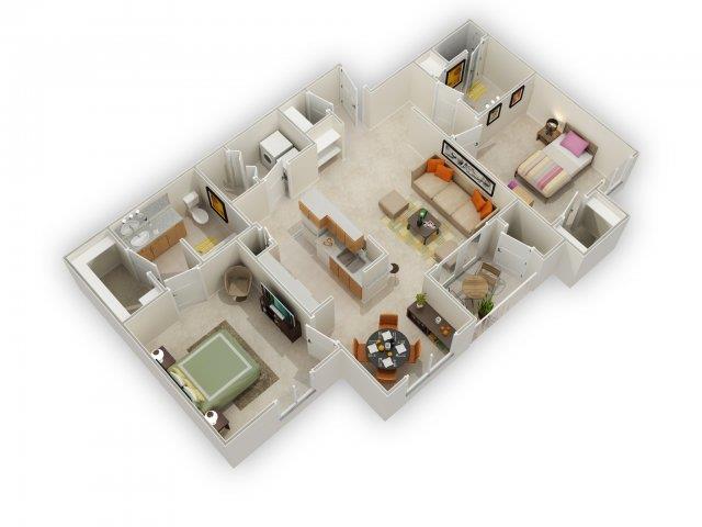Pomona Floorplan at Main Street Village Apartments