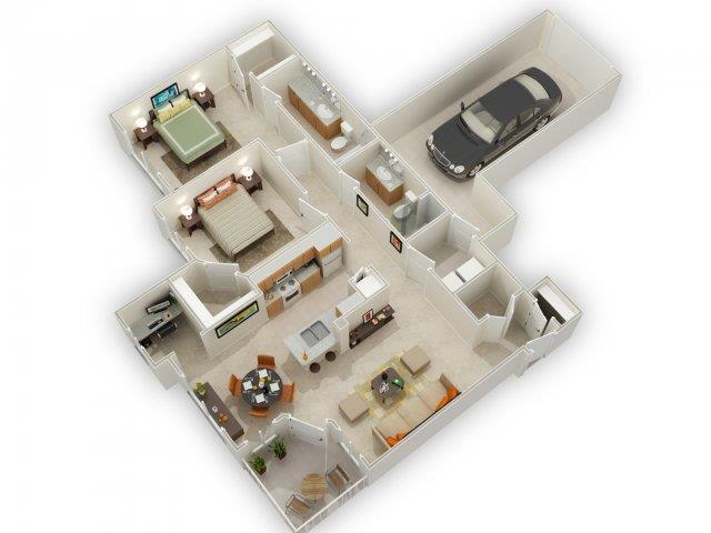 Taliesin Floorplan at Main Street Village Apartments