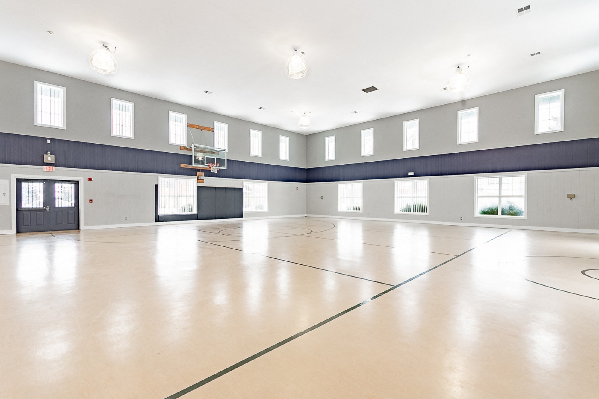 Full Size Indoor Basketball Court, at Main Street Village Apartments, Indiana, 46530