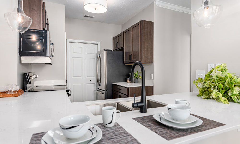 Well Organised Kitchen at Main Street Village Apartments, Granger, IN, 46530