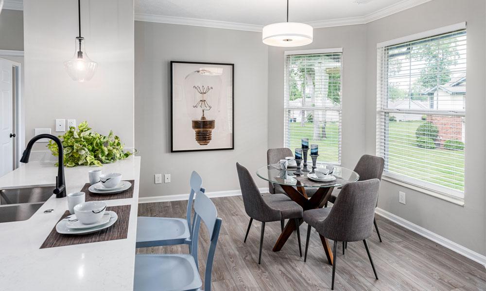 Elegant Dining Room at Main Street Village Apartments, Granger, 46530