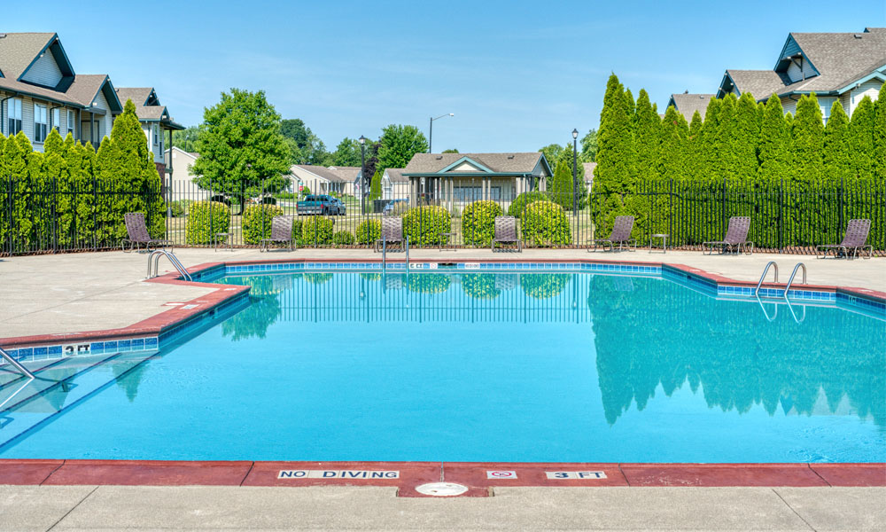 Relaxing Pool at Main Street Village Apartments, Indiana
