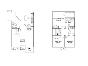 Floor Plan at Fairlane Woods Apartments, Dearborn
