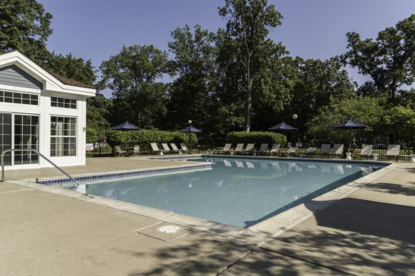 Private Lakeside Swimming Pool at Fairlane Woods Apartments, Dearborn, MI