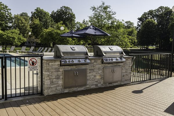 Outdoor Lounge and Grilling Area at Fairlane Woods Apartments, Michigan, 48126