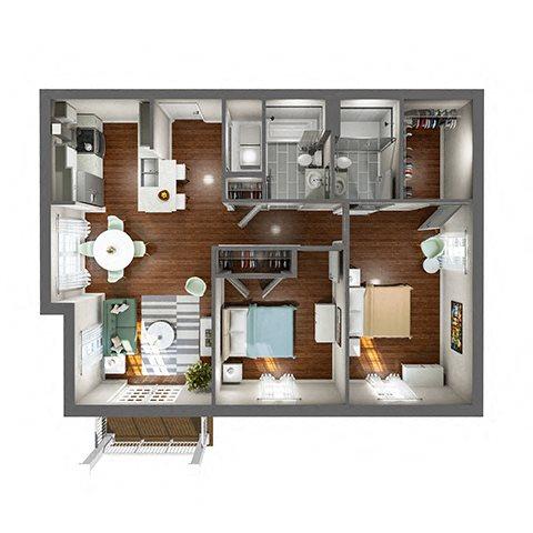 2D Floor Plan 6
