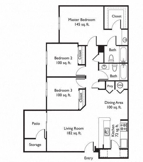 San Simeon Apartments: Floor Plans Of The Sonoran In Casa Grande, AZ