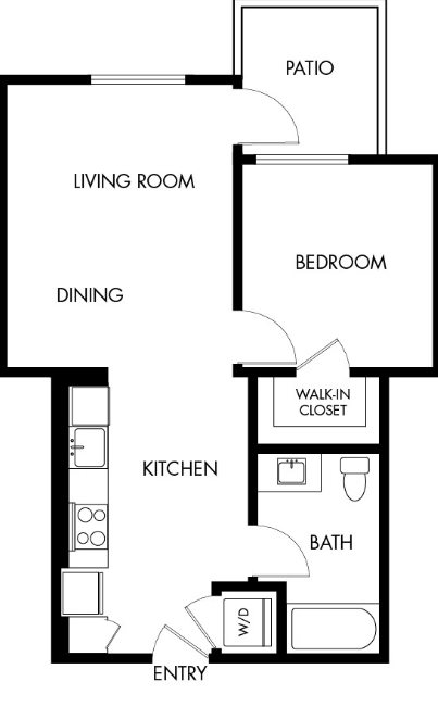 G12 Apartments_Los Angeles CA_Floor Plans_One Bedroom One Bathroom_19