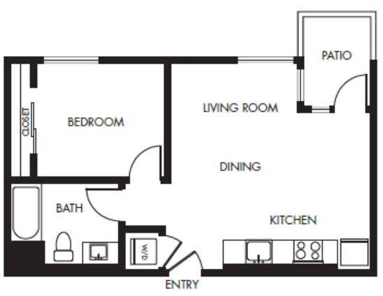 G12 Apartments_Los Angeles CA_Floor Plans_One Bedroom One Bathroom_9