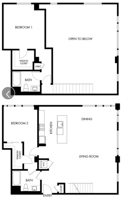 G12 Apartments_Los Angeles CA_Floor Plans_Two Bedroom Two Bathroom_10
