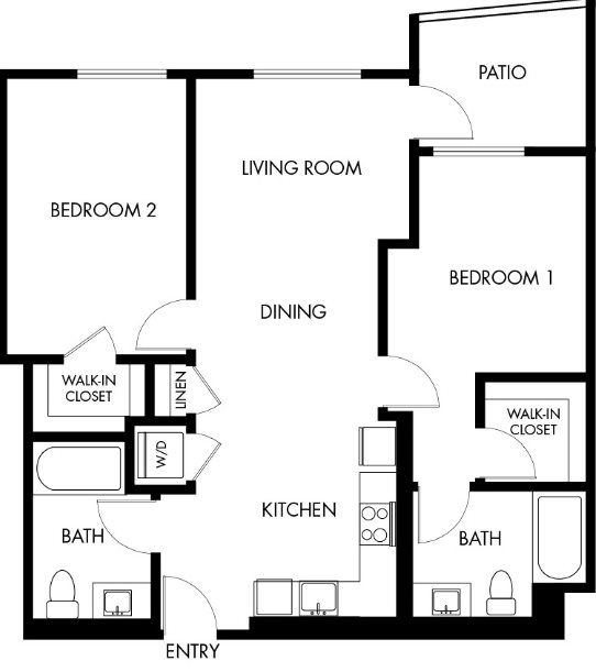 G12 Apartments_Los Angeles CA_Floor Plans_Two Bedroom Two Bathroom_7