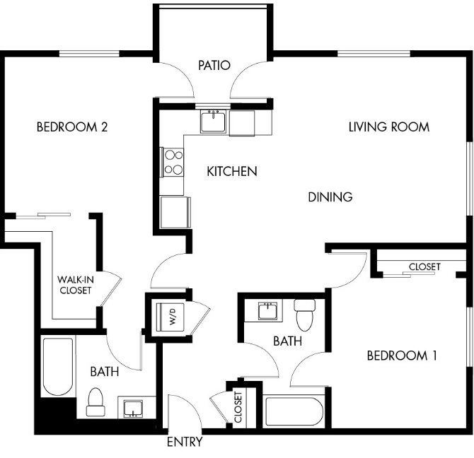 G12 Apartments_Los Angeles CA_Floor Plans_Two Bedroom Two Bathroom_9