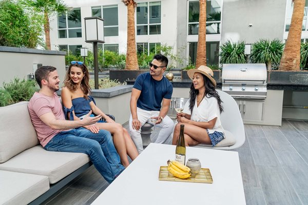 G12 Apartments_Los Angeles CA_Lounging Outside