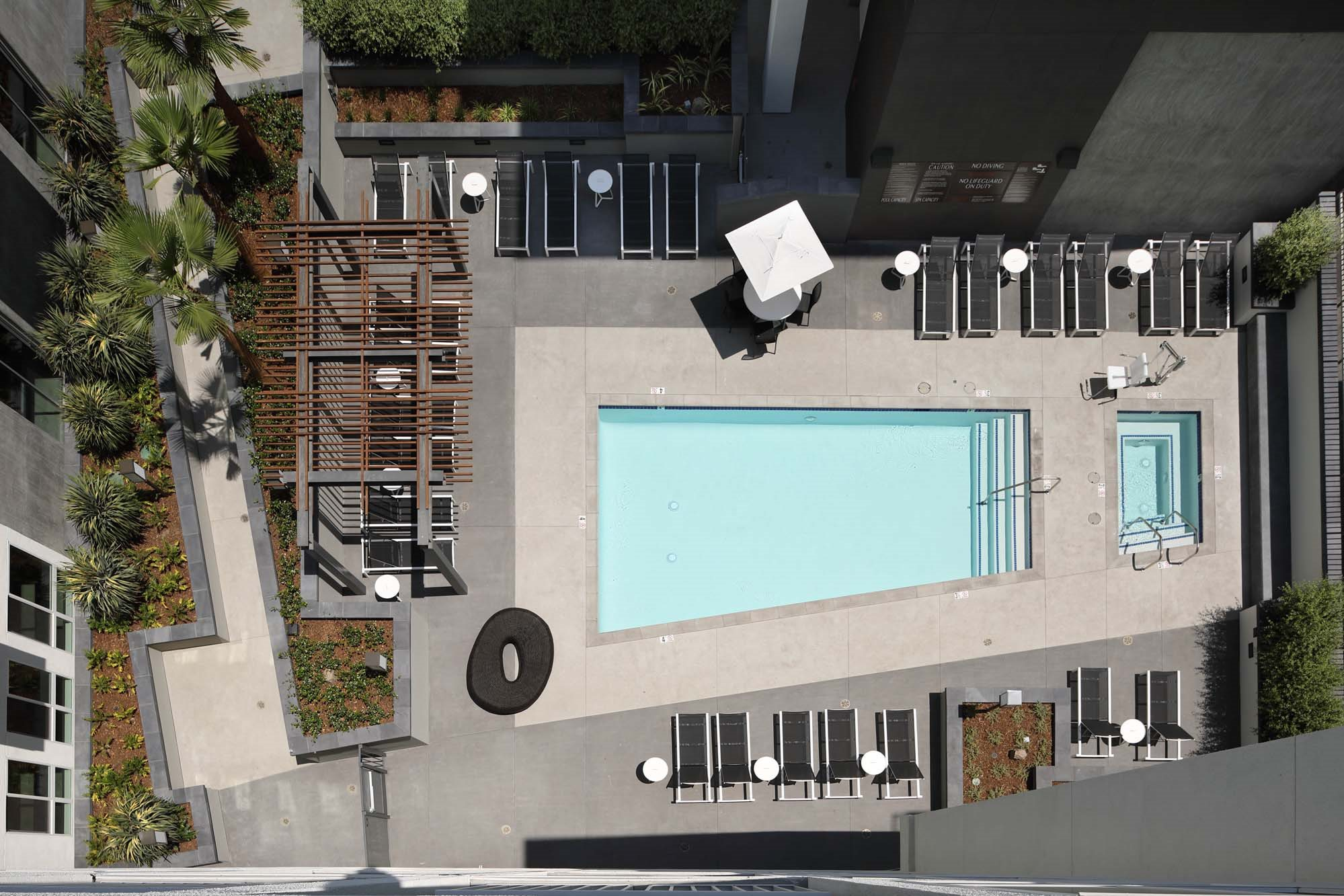 G12 Apartments_Los Angeles CA_Pool from Above