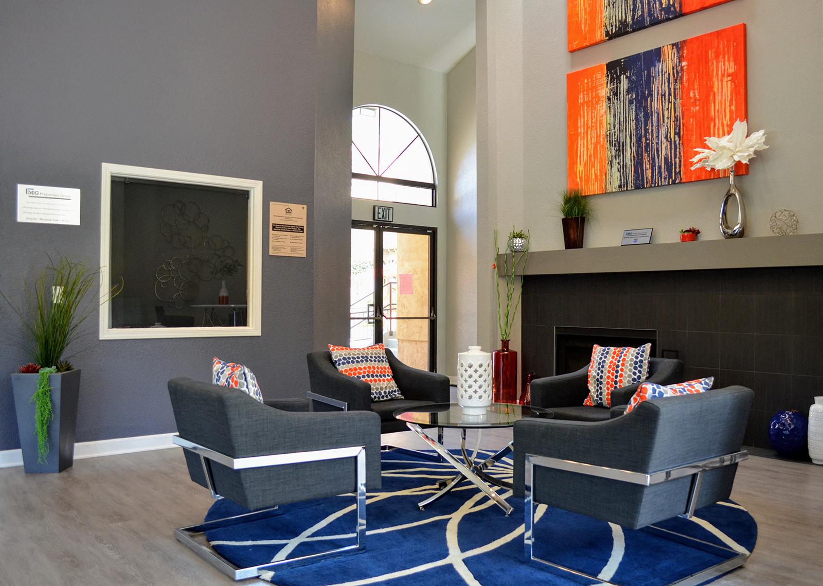 Indoor Relaxation Area at Canyon Villa Apartments, Chula Vista, 91910