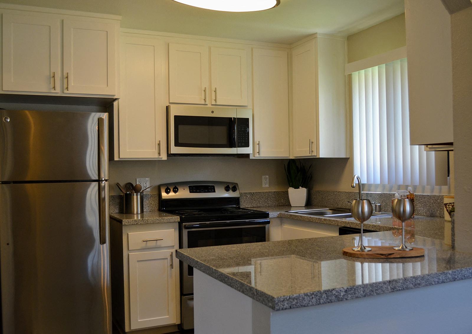 Modern Kitchen at at Canyon Villa Apartments, 601 Telegraph Canyon Road, Chula Vista
