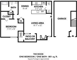 1Bedroom 1 Bath