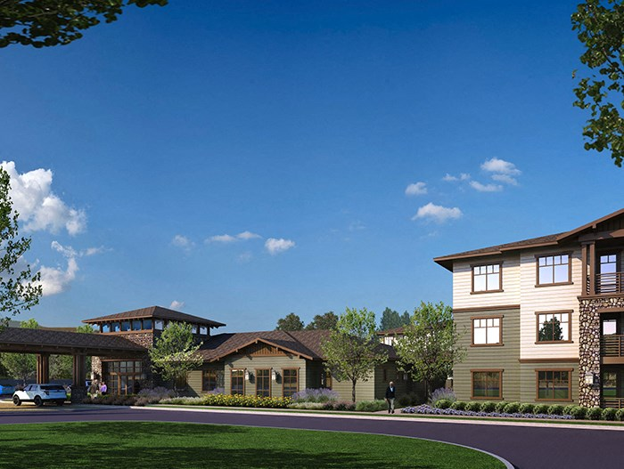 Building Rendering l The Huntington Apartments in Morgan Hill, CA