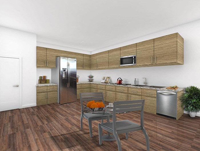 2x2 The Oak Floorplan Kitchen