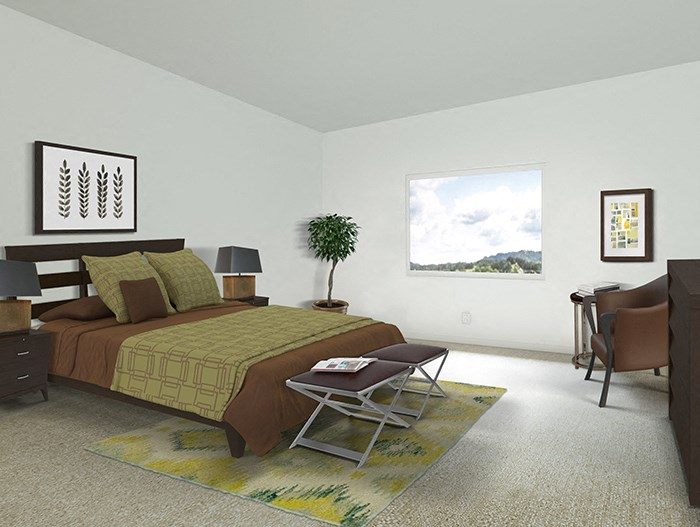 2x2 The Oak Floorplan Bedroom
