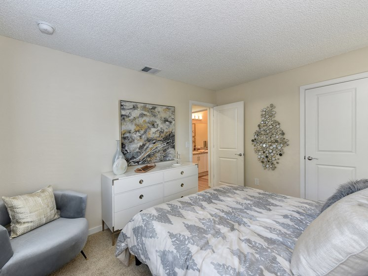 Luxury Apartment Community Bedroom with Attached Bath
