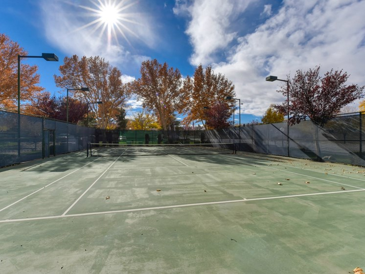 Luxury Apartment Community Tennis Court