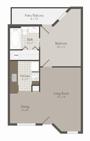 A1 Floor Plan | Avesta Lamar Station Apartments in Austin, Tx