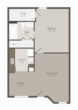 A2 Floor Plan | Avesta Lamar Station Apartments in Austin, Tx
