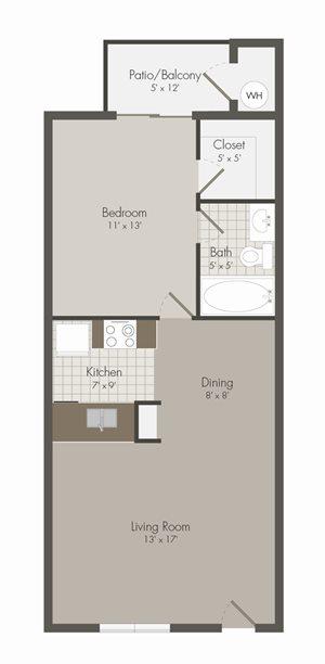 A3 floor plan | Avesta Lamar Station Apartments in Austin, Tx